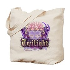 Twilight Violet Chantilly Heart Tote Bag