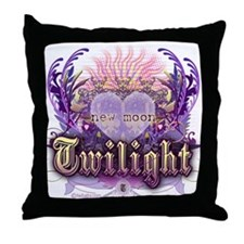 Twilight Violet Chantilly Heart Throw Pillow