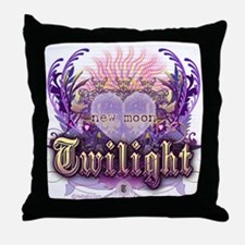 Twilight Violet Chantilly Heart Throw Pillow