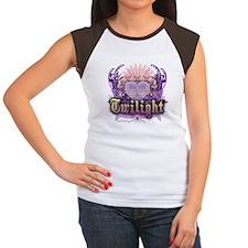 Twilight Violet Chantilly Heart Women's Cap Sleeve