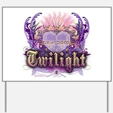 Twilight Violet Chantilly Heart Yard Sign