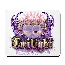 Twilight Violet Chantilly Heart Mousepad