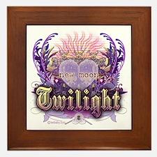 Twilight Violet Chantilly Heart Framed Tile
