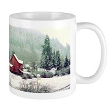 Oregon Farm in Snow Mug