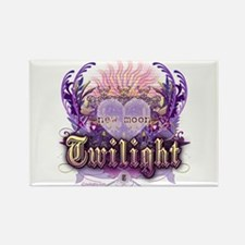 Twilight Violet Chantilly Heart Rectangle Magnet
