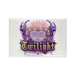 Twilight Violet Chantilly Heart Rectangle Magnet (