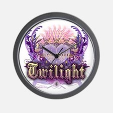 Twilight Violet Chantilly Heart Wall Clock