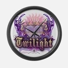 Twilight Violet Chantilly Heart Large Wall Clock