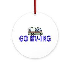 GO RV-ING Ornament (Round)