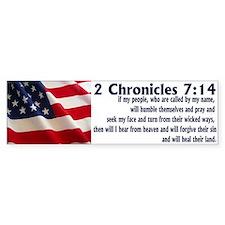 2 Chronicles 7:14 Bumper Bumper Sticker