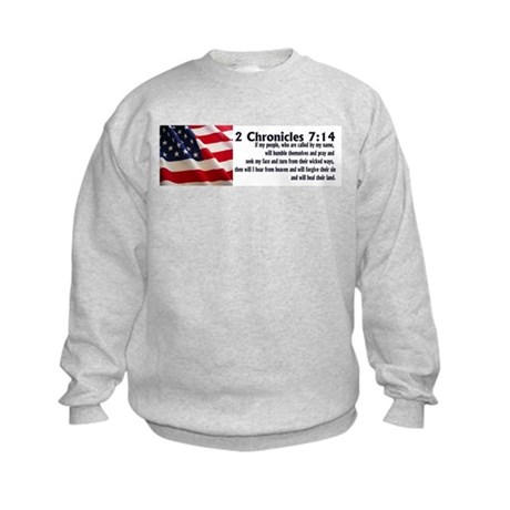 2 Chronicles 7:14 Kids Sweatshirt