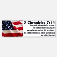 2 Chronicles 7:14 Bumper Bumper Bumper Sticker