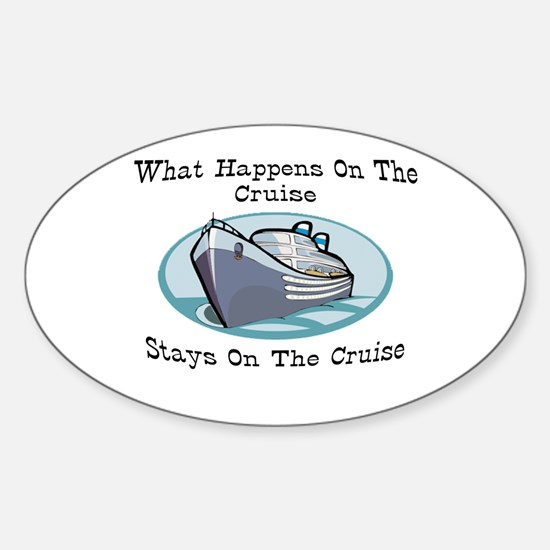 Happens On The Cruise Oval Sticker (10 pk)