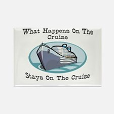 Happens On The Cruise Rectangle Magnet (10 pack)