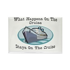 Happens On The Cruise Rectangle Magnet