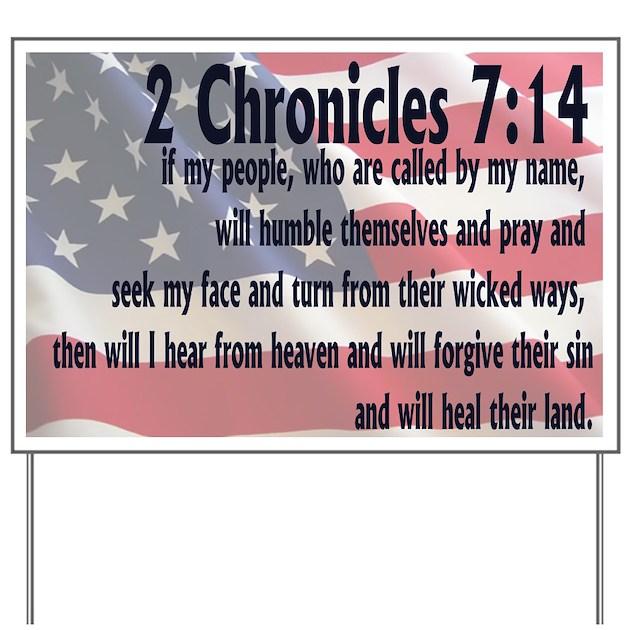 2 Chronicles 7:14 Yard Sign By Groovynetgear