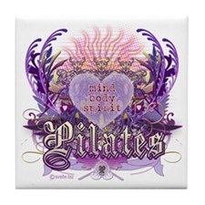 Pilates Chantilly Lace Tile Coaster