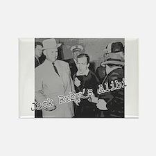 Jack Ruby's Alibi Rectangle Magnet