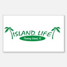 Island Life Rectangle Decal