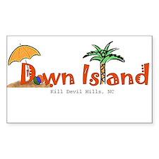 Down Island Wear Decal