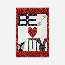 Valentine Quilt Rectangle Magnet