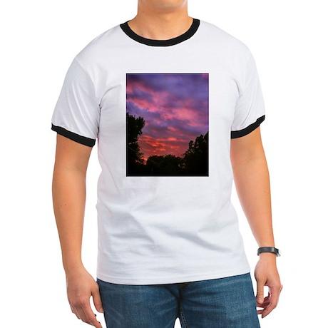 Cloudy Sunset Ringer T