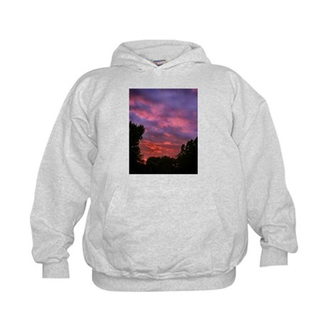 Cloudy Sunset Kids Hoodie