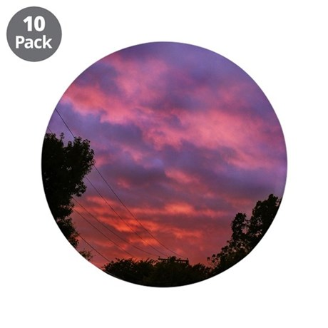 """Cloudy Sunset 3.5"""" Button (10 pack)"""