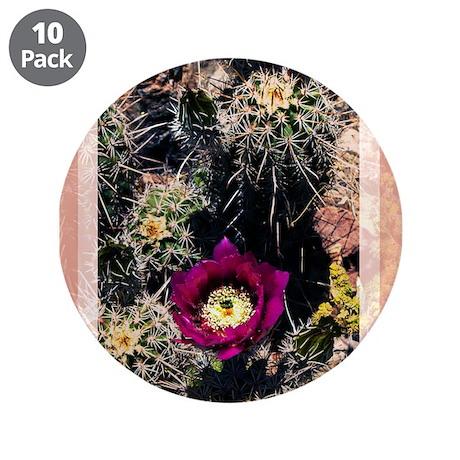 "Barrel Cactus Flower 3.5"" Button (10 pack)"