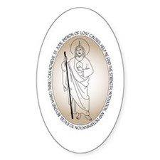 St. Jude Oval Sticker (10 pk)