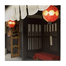 Japan Tile Coaster: <br> Restaurant lanterns, Gion