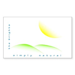 Simply Natural Rectangle Sticker 50 pk)