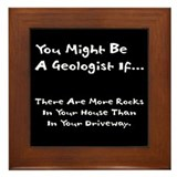 Geologist Framed Tiles