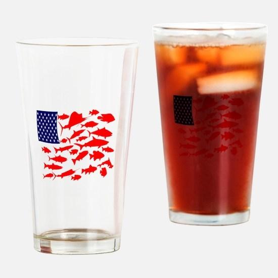 FREEDOM FISH Drinking Glass