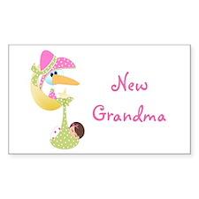 New Grandma (pink) Rectangle Decal