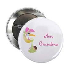 "New Grandma (pink) 2.25"" Button"