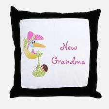 New Grandma (pink) Throw Pillow