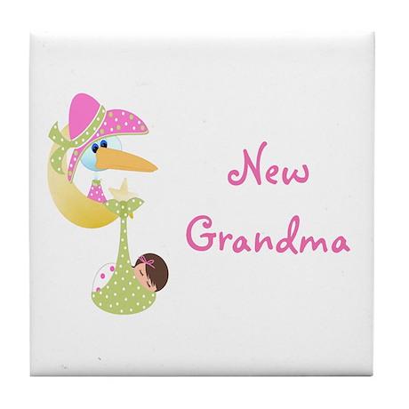 New Grandma (pink) Tile Coaster