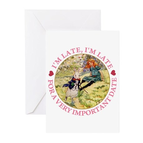 I'M LATE, I'M LATE Greeting Cards (Pk of 20)