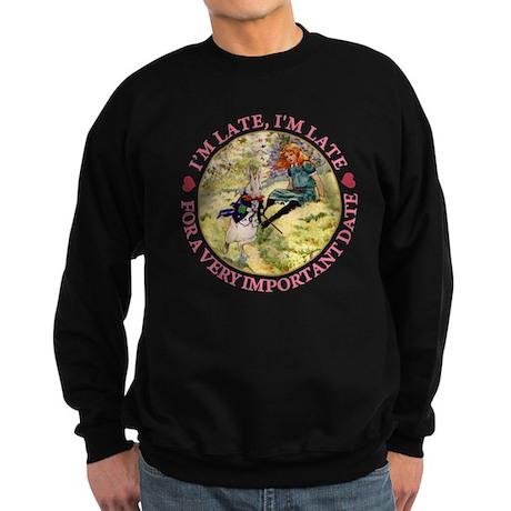 I'M LATE, I'M LATE Sweatshirt (dark)