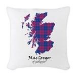 Map - MacGregor of Glengyle Woven Throw Pillow