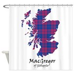 Map - MacGregor of Glengyle Shower Curtain
