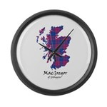 Map - MacGregor of Glengyle Large Wall Clock
