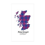 Map - MacGregor of Glengyle Sticker (Rectangle 50