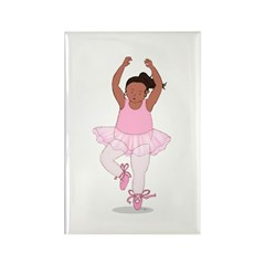Wholesome Pirouetting Ballerina Rectangle Magnet