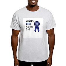 #1 Agility Dad Ash Grey T-Shirt