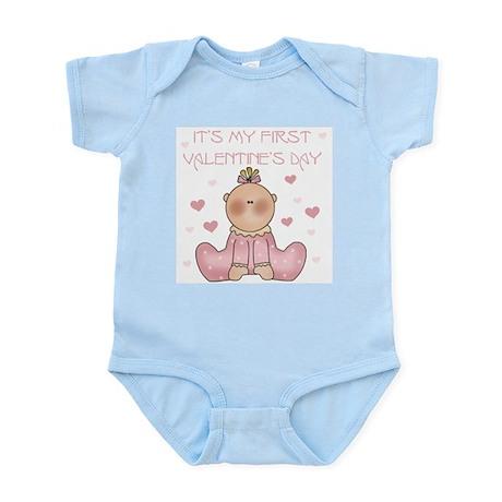 Baby Girl 1st Valentine's Day Infant Creeper