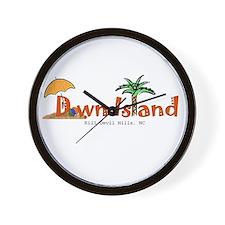 Down Island Wear Wall Clock