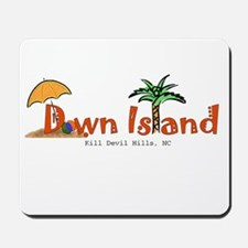Down Island Wear Mousepad