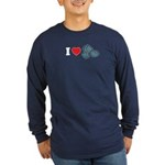 I Love Rocks Long Sleeve Dark T-Shirt